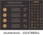 human resource infographic... | Shutterstock .eps vector #1024788061