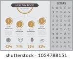 healthy food infographic... | Shutterstock .eps vector #1024788151