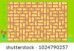 logic puzzle game with...   Shutterstock .eps vector #1024790257