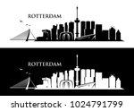 rotterdam skyline   netherlands ...   Shutterstock .eps vector #1024791799