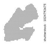 pixel map of djibouti. vector...   Shutterstock .eps vector #1024792675