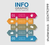 vector infographic template for ... | Shutterstock .eps vector #1024792999