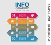 vector infographic template for ... | Shutterstock .eps vector #1024792999
