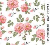 flower ornament. rose pattern | Shutterstock .eps vector #1024794955