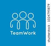 teamwork icon line business... | Shutterstock .eps vector #1024795879