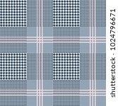 glen plaid pattern in navy blue ...   Shutterstock .eps vector #1024796671