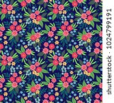 elegant floral pattern in small ... | Shutterstock .eps vector #1024799191