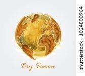 dry season . watercolor... | Shutterstock .eps vector #1024800964