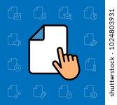 set of document icons. vector... | Shutterstock .eps vector #1024803931
