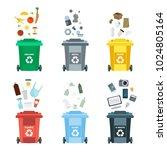 vector illustration  set of... | Shutterstock .eps vector #1024805164