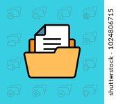 set of folder icons. vector... | Shutterstock .eps vector #1024806715
