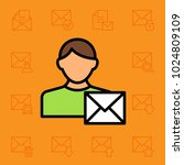set of mail icons. vector... | Shutterstock .eps vector #1024809109
