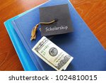 scholarship graduation cap with ... | Shutterstock . vector #1024810015