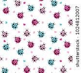 Cute Ladybug Seamless Pattern...