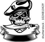 skull dagger knife  | Shutterstock . vector #1024813429