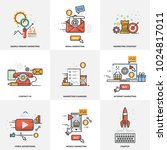 a set of elements for website... | Shutterstock .eps vector #1024817011