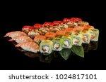 japanese cuisine. sushi set... | Shutterstock . vector #1024817101