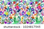 seamless floral pattern with... | Shutterstock .eps vector #1024817545