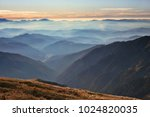 beautiful autumn dawn landscape ... | Shutterstock . vector #1024820035