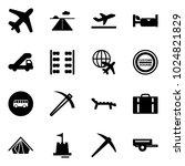 solid vector icon set   plane... | Shutterstock .eps vector #1024821829