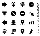 solid vector icon set   right... | Shutterstock .eps vector #1024824505