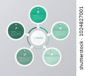 circle infographic template... | Shutterstock .eps vector #1024827001