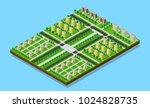 city isometric plan of sleeping ... | Shutterstock .eps vector #1024828735