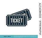ticket icon vector logo template | Shutterstock .eps vector #1024829179