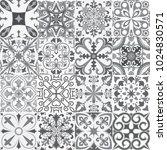 big vector set of tiles...   Shutterstock .eps vector #1024830571