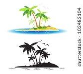 desert island | Shutterstock .eps vector #102483104