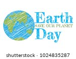 earth day poster. vector... | Shutterstock .eps vector #1024835287