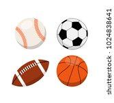 sports balls on white... | Shutterstock .eps vector #1024838641