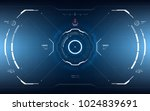 sci fi concept hud interface... | Shutterstock .eps vector #1024839691
