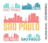 sao paulo brazil flat icon... | Shutterstock .eps vector #1024840861