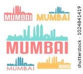 mumbai india flat icon skyline...   Shutterstock .eps vector #1024841419