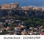 athens greece  parthenon on...   Shutterstock . vector #1024841989
