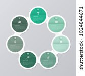 circle infographic template... | Shutterstock .eps vector #1024844671