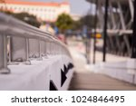 close up of a handrail on a... | Shutterstock . vector #1024846495