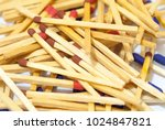 match sticks spread on white... | Shutterstock . vector #1024847821