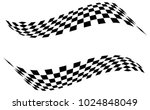 checkered racing flag isolated... | Shutterstock .eps vector #1024848049