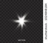 starburst  vector white lights...   Shutterstock .eps vector #1024848184