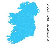 high detailed blue vector map   ... | Shutterstock .eps vector #1024849285