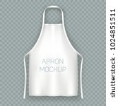 isolated apron mock up.... | Shutterstock .eps vector #1024851511