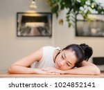 asian woman with bored... | Shutterstock . vector #1024852141