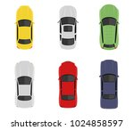 transport set from above  top... | Shutterstock .eps vector #1024858597