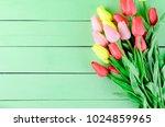 top view of  beautiful  spring... | Shutterstock . vector #1024859965
