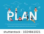 plan your work and projects... | Shutterstock .eps vector #1024861021