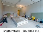 working process of installing... | Shutterstock . vector #1024861111