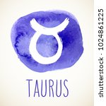taurus hand drawn zodiac sign... | Shutterstock .eps vector #1024861225