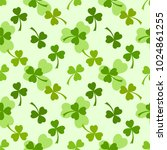 light green clover leaves... | Shutterstock .eps vector #1024861255